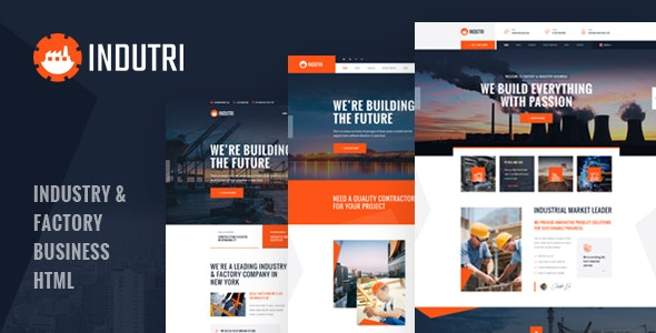 Indutri (1.0) - HTML Template For Industry & Factory Business
