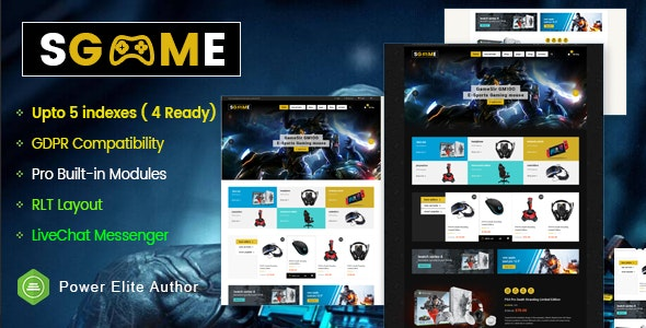 SGame (1.0.1) - Responsive Accessories Store OpenCart Theme (Include 3 mobile layouts)