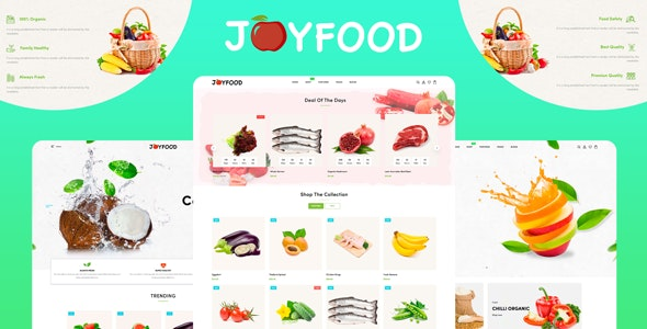 JoyFood (1.0) - Grocery, Supermarket Organic Food/Fruit/Vegetables eCommerce Shopify Theme