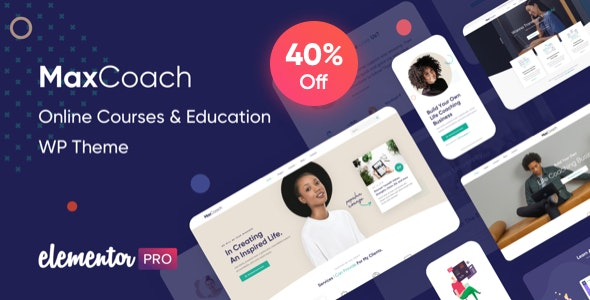 MaxCoach (2.3.1) - Online Courses & Education WP Theme