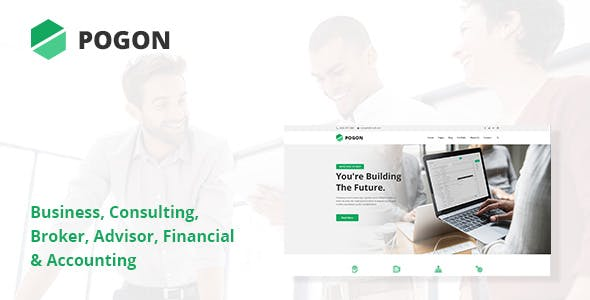 Pogon - Business and Finance Corporate WordPress Theme (1.0.7)