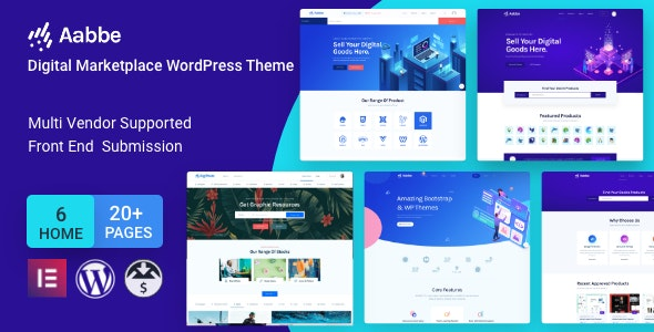 Aabbe - Digital Marketplace WordPress Theme (3.3.0)