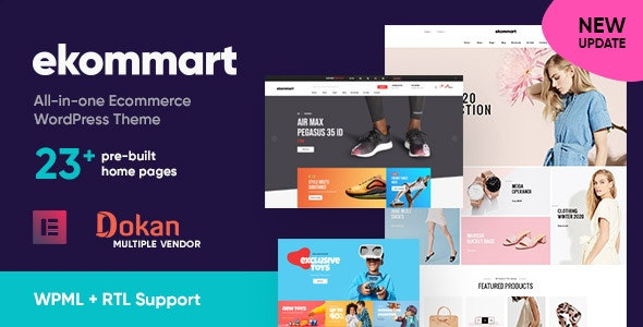 Ekommart (3.5.3) - All-in-one eCommerce WordPress Theme