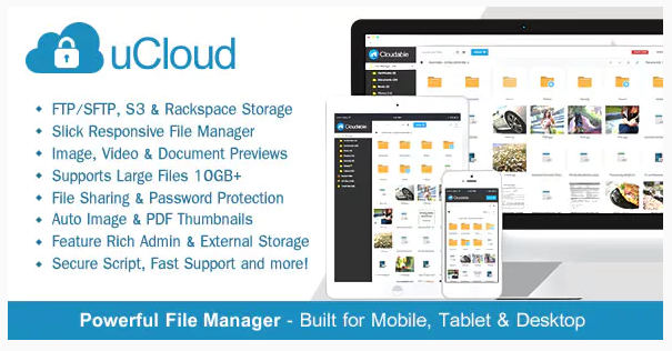 uCloud (2.0.1) - File Hosting Script - Securely Manage, Preview & Share Your Files