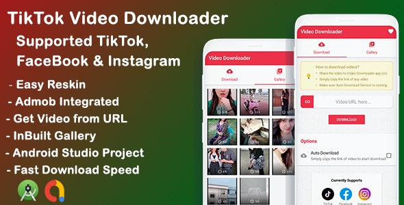Tiktok, Facebook, Instagram video downloader (1.0)