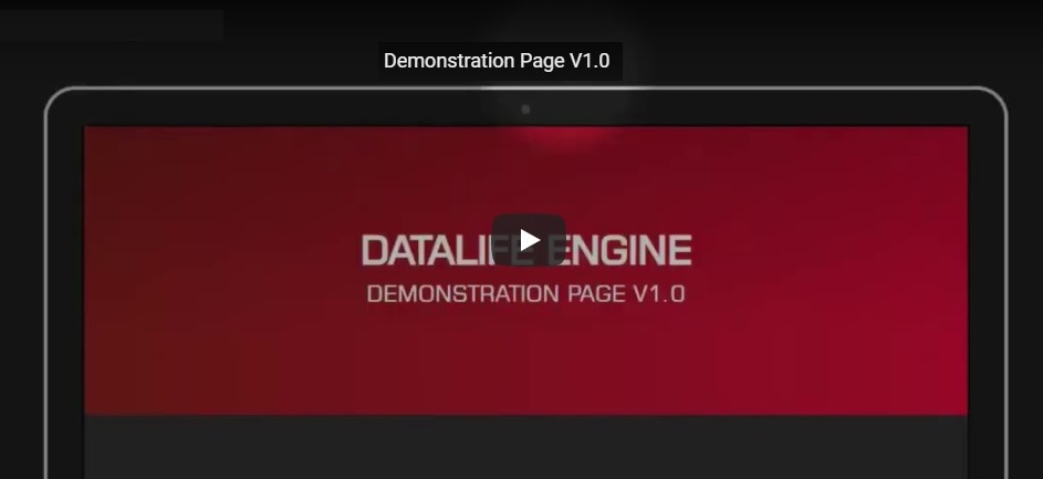 Demonstration Page для DLE 13.x и выше (1.0)