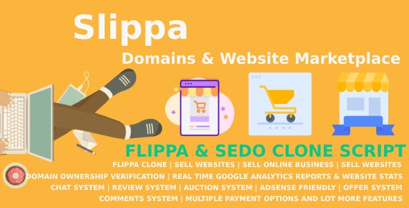 Slippa (2.4) - Domains & Website Marketplace PHP Script